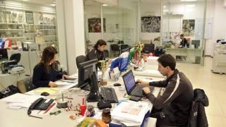 Gli uffici dell'Olimpia Milano. IPP