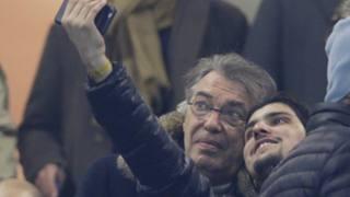 Massimo Moratti, 69 anni, al ritorno ieri a San Siro. AP
