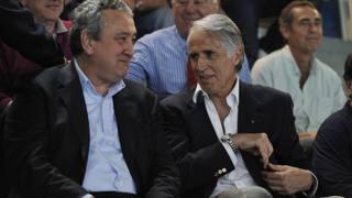 Il presidente della Fina Paolo Barelli con Giovanni Malag�. LaPresse