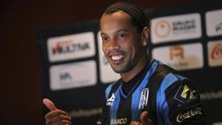 Ronaldinho, 34 anni, prima stagione in Messico al Queretaro. Ap