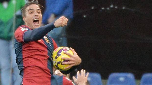 Alessandro Matri esulta dopo il gol del 2-2. Ansa