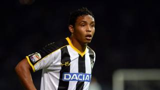 Luis Muriel, 23 anni, attaccante colombiano dell'Udinese. Getty