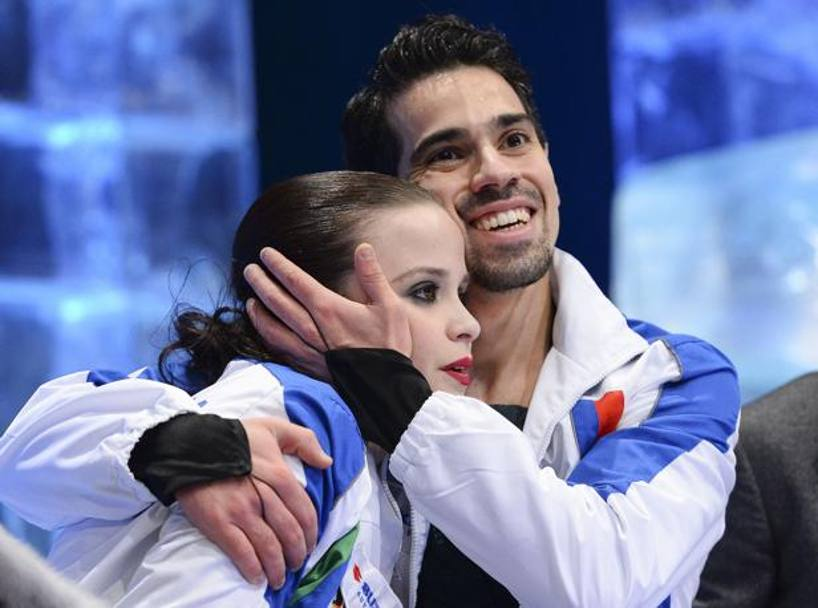 Anna Cappellini e Luca Lanotte felici a Stoccolma all'Europeo