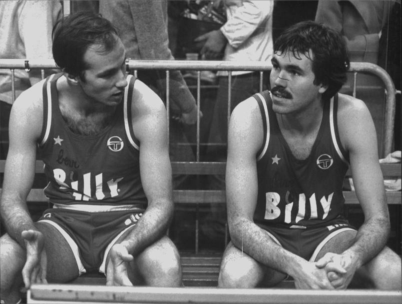 1978: D'Antoni e Mike Sylvester con il nuovo sponsor Billy (Olympia)
