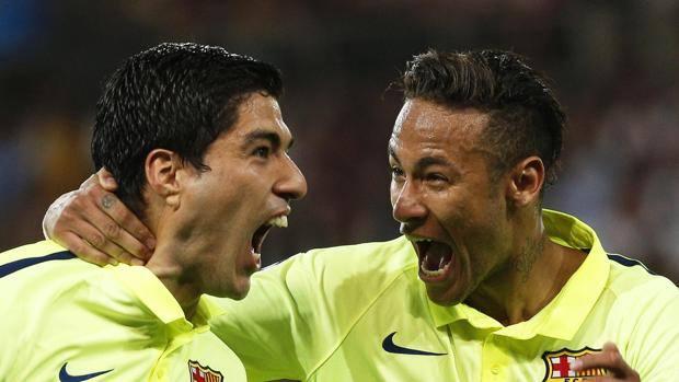 Luis Suarez e Neymar, protagonisti blaugrana. Epa