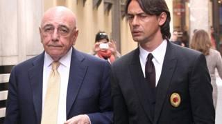 Galliani e Inzaghi, passeggiata a Milano