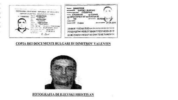 Un documento falso usato da Ilievski, soprattutto per circolare nei paesi dell'Europa dell'Est