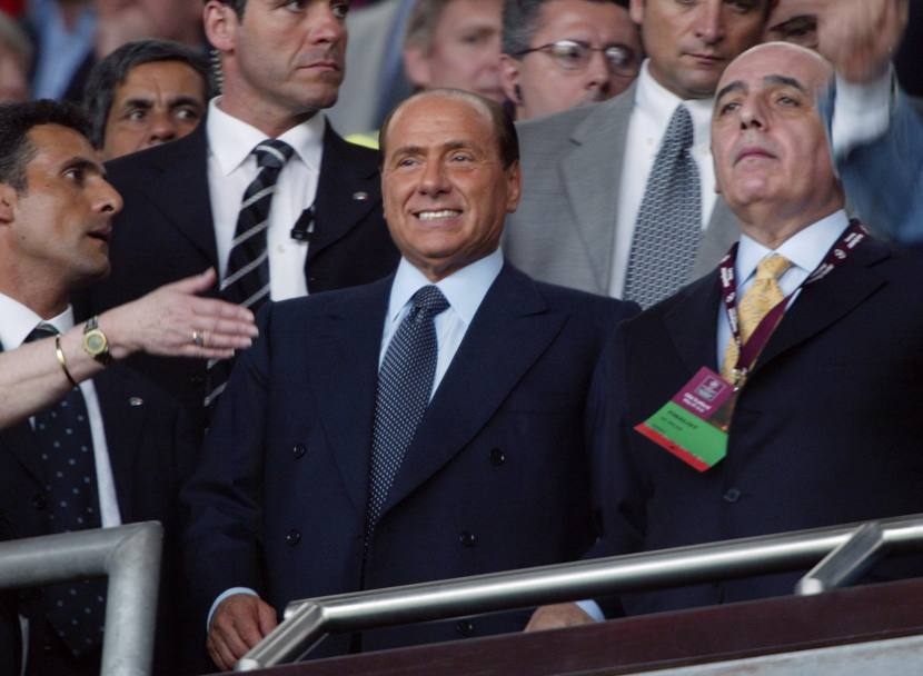 All'Old Trafford di Manchester c'era anche Silvio Berlusconi. Afp