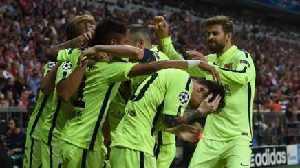 La festa del Barcellona: è in finale di Champions. Afp