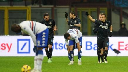 Shaqiri, Icardi e Podolski fanno festa durante Inter-Samp di Coppa Italia. Ansa