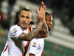 Radja Nainggolan, 27 anni, centrocampista della Roma, in giallorosso dal gennaio 2014. Ansa