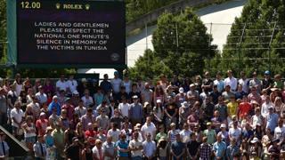 Wimbledon onora le vittime dell'attentato in Tunisia