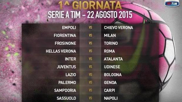 Il quadro della prima giornata della serie A 2015-16