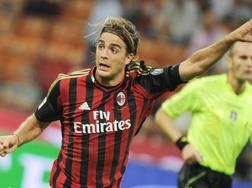 L'ormai ex attaccante del Milan Alessandro Matri, 31 anni. Ansa