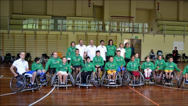 Staff e giovani atleti allo Sporting Center di Livigno