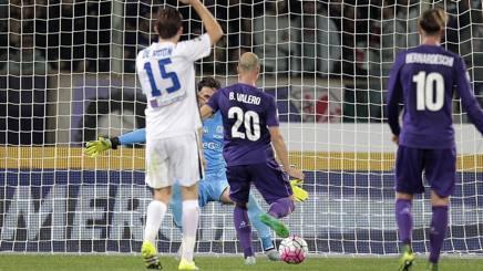 Il gol del 2-0 di Borja Valero. Getty