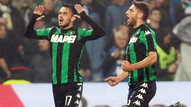 Nicola Sansone, 24 anni, con Domenico Berardi, 21. Ansa