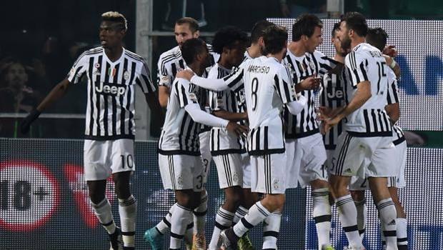 L'esultanza della Juve dopo il gol di Mandzukic. Getty