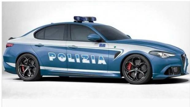 La giulia con i colori della polizia torna - Foto della polizia citazioni ...
