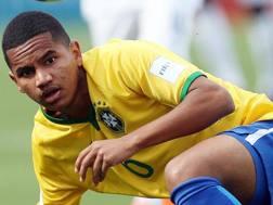 Rogerio, 17 anni, con la maglia del Brasile Under 17. Epa
