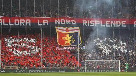 La gradinata Nord coi tifosi del Genoa. Getty