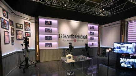 Lo studio di GazzettaTv. Ansa
