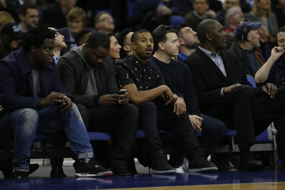 Anche Michael B. Jordan ad assistere al match. (Getty Images)