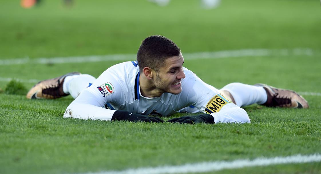 Icardi a terra: la sua Inter ha deluso. Getty