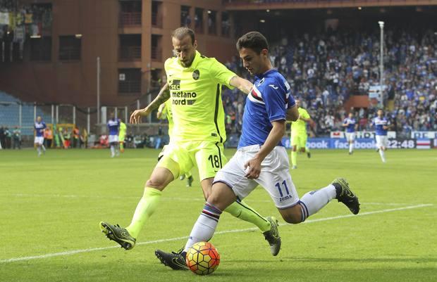 Federico Bonazzoli (17 anni) in azione con la maglia della Sampdoria, Getty Images