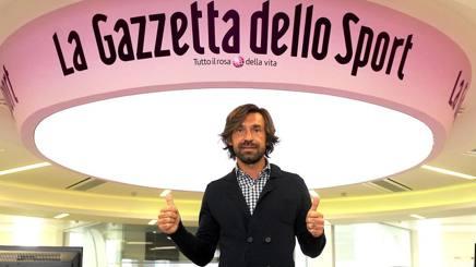 Andrea Pirlo, in visita in Gazzetta. Bozzani