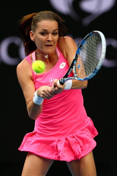 Agnieszka Radwanska vs Eugenie Bouchard. (Getty Images)