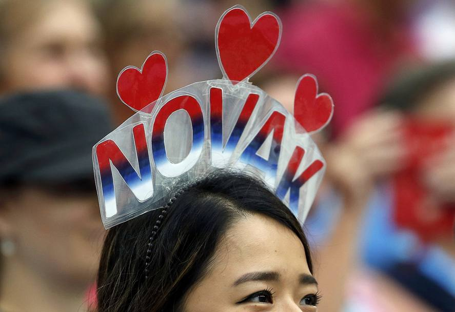 Melbourne, Australia: una fan del serbo Novak Djokovic (REUTERS)