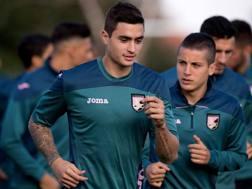 Manuel Arteaga, 21 anni, in allenamento con il Palermo. Getty