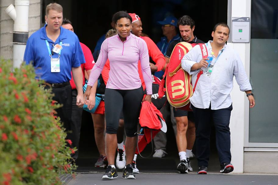 Serena e il suo staff. (Getty Images)