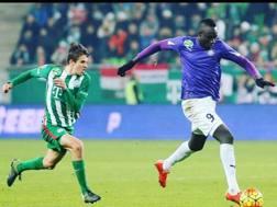 Mbaye Diagne, con la maglia dell Ujpest. Facebook