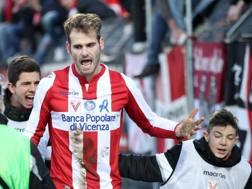 Filip Raicevic, 22 anni, attaccante del Vicenza. LaPresse