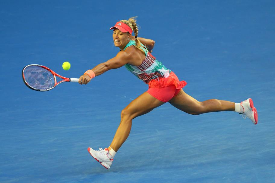 Angelique Kerber si oppone a un affondo della Williams (Getty Images)