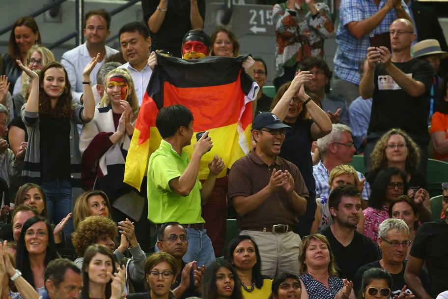 Tifo calcistico per la Kerber... (Getty Images)