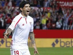 Ever Banega, 27 anni, centrocampista argentino del Siviglia. Epa