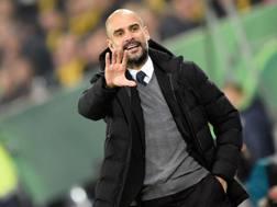 L'allenatore spagnolo Pep Guardiola. Reuters