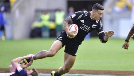 Sonny Bill Williams con la nazionale neozelandese di rugby a 7 AFP