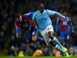 Yaya Tour�, 32 anni, centrocampista del Manchester City. Lapresse