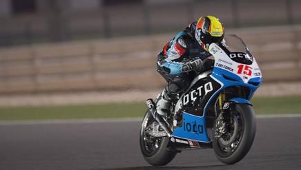 Alex De Angelis con la Ioda, che lo seguir� dalla MotoGP alla Superbike. Getty