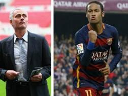 Jos� Mourinho e Neymar. Getty-Reuters