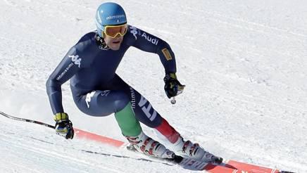 Christof Innerhofer sulla pista dei Giochi 2018. Ap