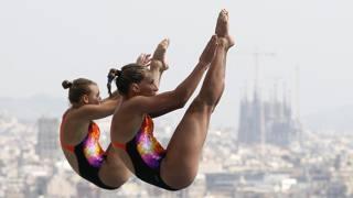 Tania Cagnotto e Francesca Dallap� inseguono la qualificazione olimpica nel sincro REUTERS