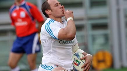 Sergio Parisse, n�8 azzurro, alla 115� presenza. Fama