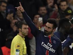 Ezequiel Lavezzi esulta dopo il gol al Tolosa. Sar� l'ultimo con il Psg? Afp