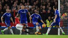 Il gol del momentaneo vantaggio di Lingard. Getty Images