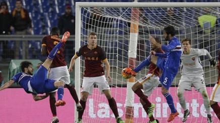 Cassani ha rischiato di trovare il 2-2 in Roma-Sampdoria,n ell'ultimo minuto di recupero. Ap